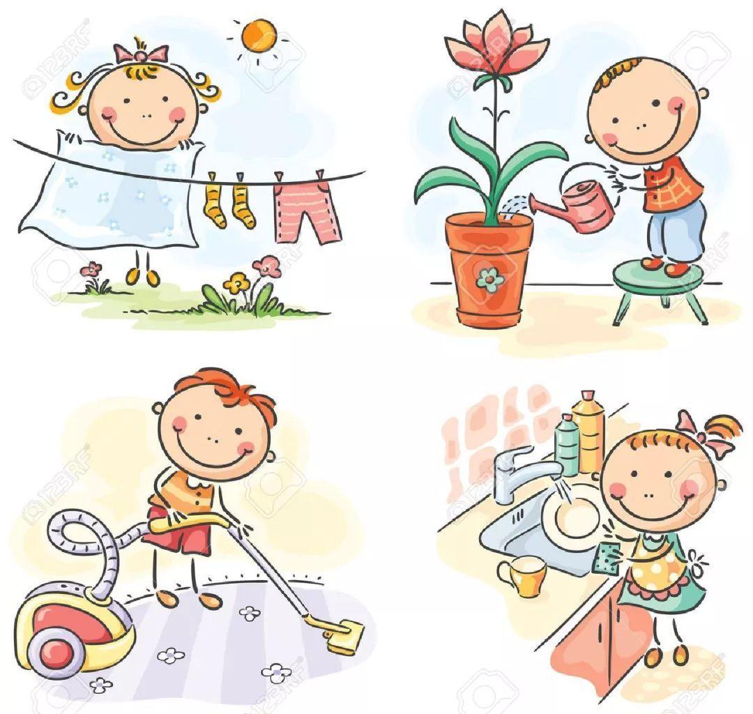 做家务也是锻炼身体,做家务和儿童的肥胖是有关系的.图片