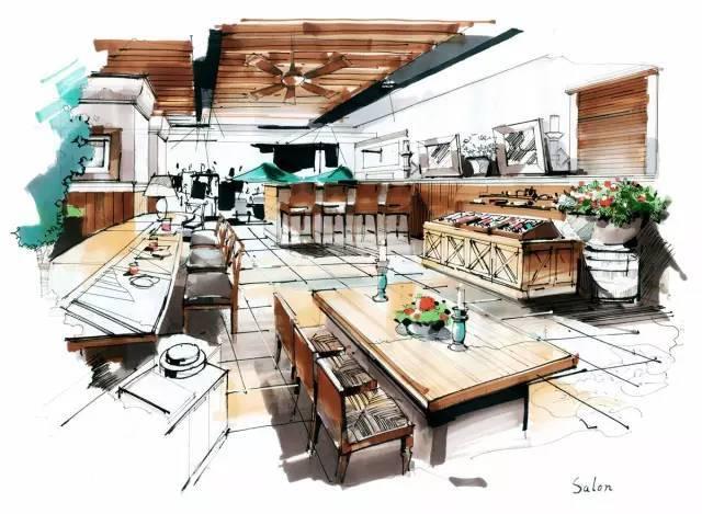 时尚 正文  3 室内手绘快题篇 公共建筑室内设计:如文教类(如各类大厅图片