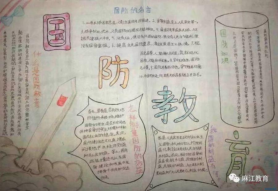 """宣威小学开展""""国防教育""""手抄报评比活动"""