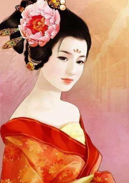 美女古装手绘图王妃