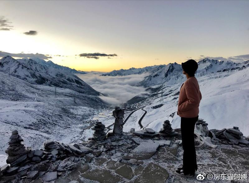 国庆大雪后,折多山日出,云海,佛光美极了! 川藏线旅游攻略 第5张