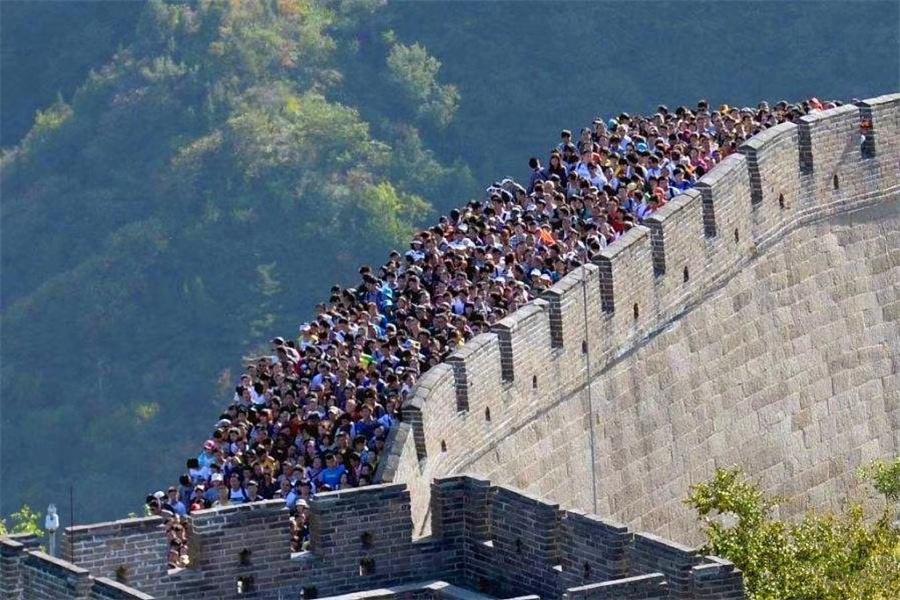 万里长城万里人,国庆的长城太可怕了!
