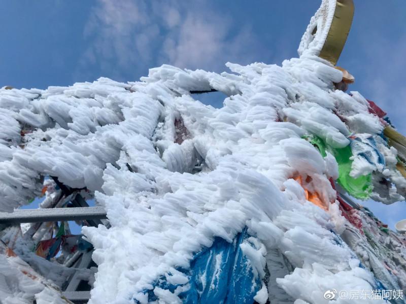 国庆大雪后,折多山日出,云海,佛光美极了! 川藏线旅游攻略 第7张