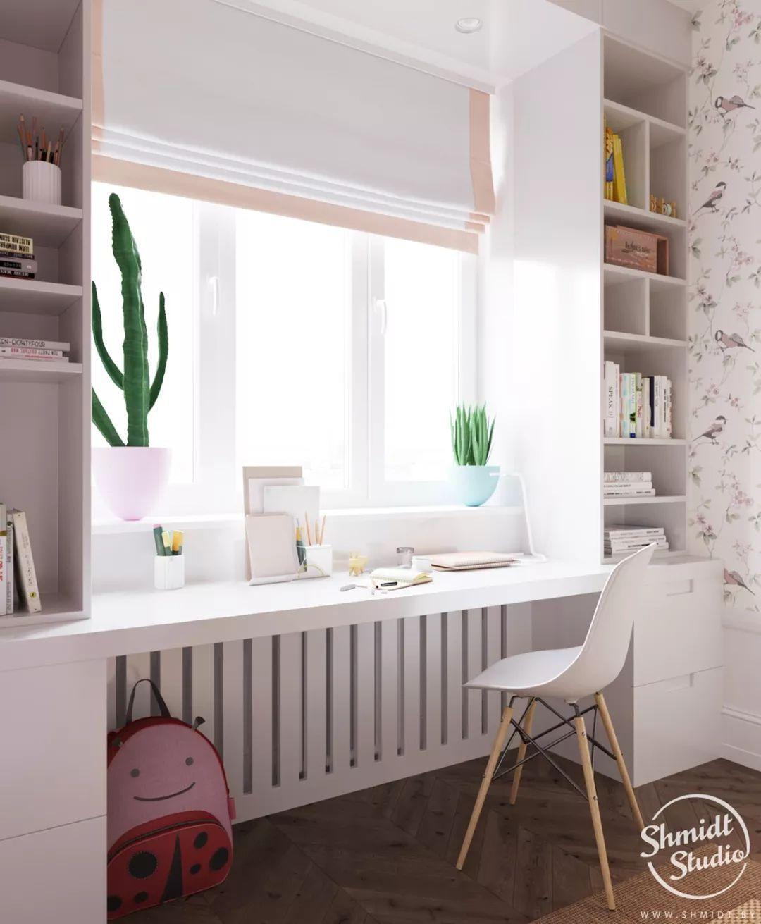女宝宝的居住空间 大部分的设计,其实与另一间儿童房 嵌入式的壁橱图片