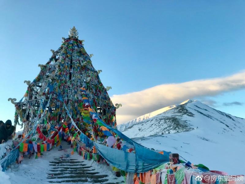 国庆大雪后,折多山日出,云海,佛光美极了! 川藏线旅游攻略 第6张
