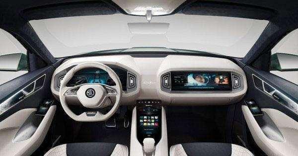 斯柯达新6座SUV隐藏式门把手颜值逆天