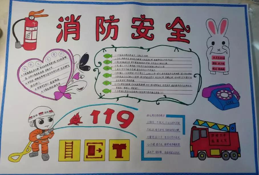 我们也可以通过做消防安全手抄报来学习.