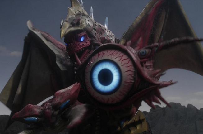 9、超合体怪兽——五帝兽   又称超合体怪兽法伊布王,是有火焰哥尔赞、美尔巴、雷丘巴斯、眼q、戈布五头怪兽的标志部分组成的怪兽.图片