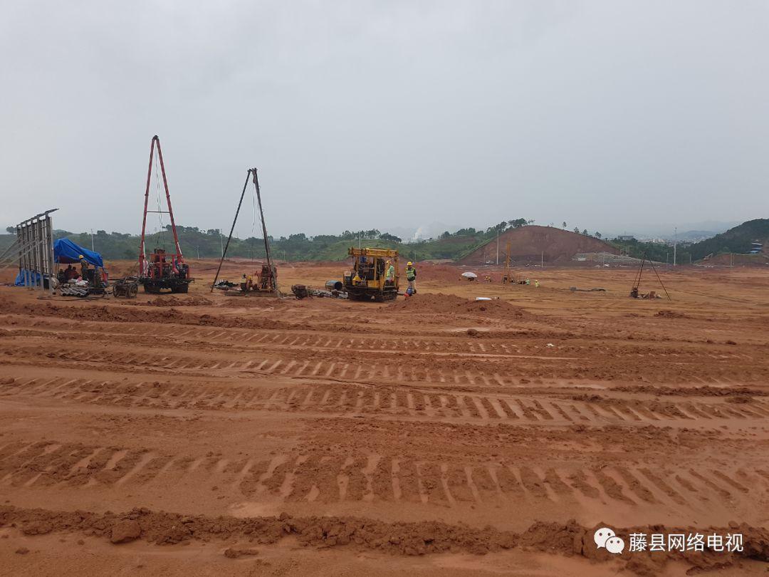藤县家长注意了 藤县教育集中区正式动工,完成首根桩基施工