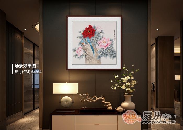 别具一格的玄关装饰画,这几款牡丹画收藏超过10w+