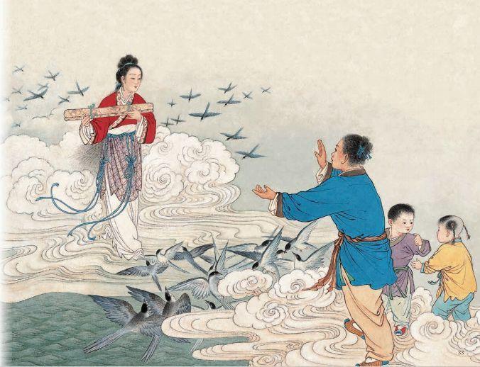 墨浪作品中国绘本《牛郎织女》