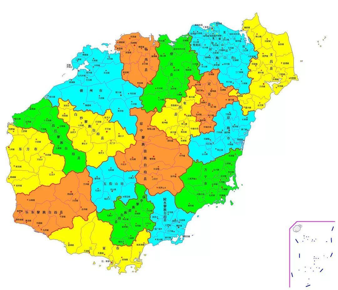 海南各市人口_海南各市县的人口分布情况