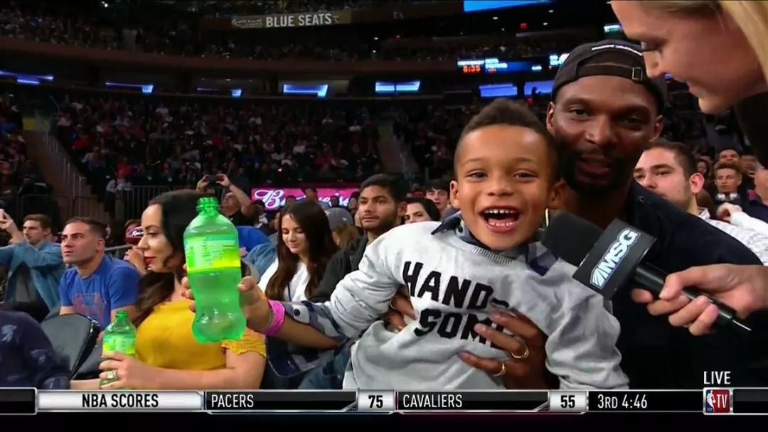 """""""真巨头""""再现NBA波什的儿子要和父亲一起努力!"""