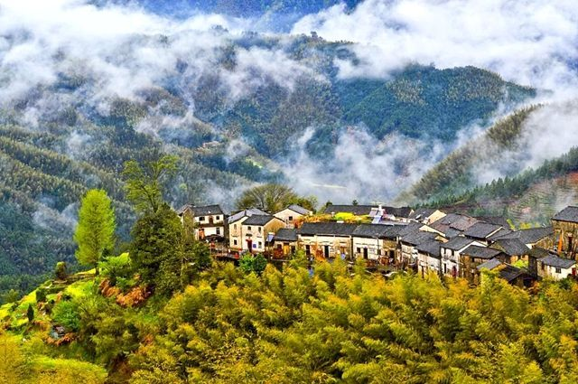 徽州海拔最高的村落:被称为天上人间,一幅看不倦的水墨画卷