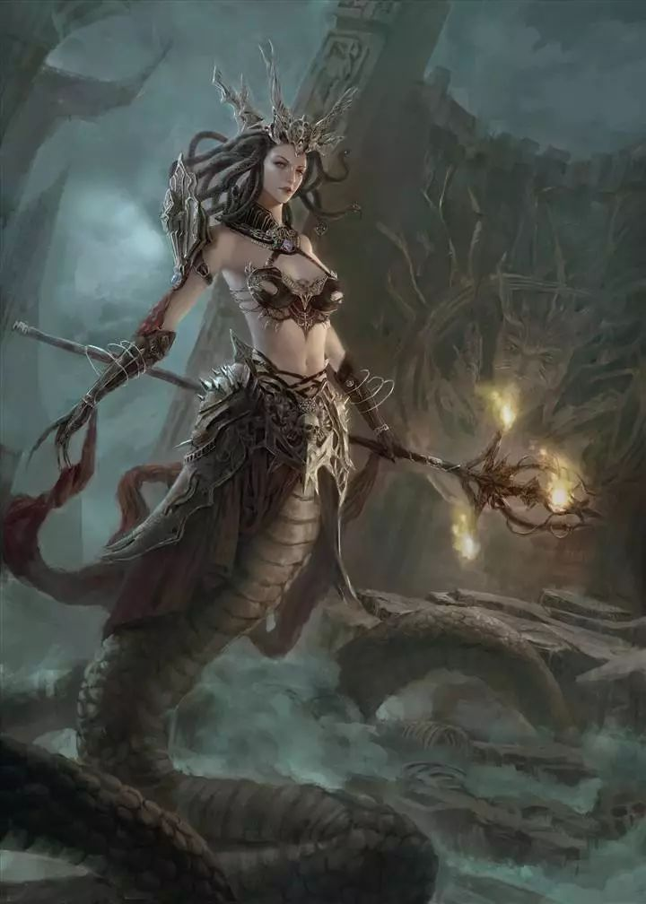 古希腊神话蛇发女妖共有三位 美杜莎是其中最弱的 石化 美杜莎 女妖 新浪网图片