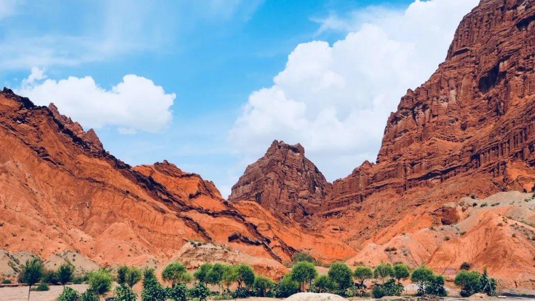 新疆红山大峡谷_我在新疆·旅行日记   巴州小伙带着单反和无人机拍出独库大片 ...