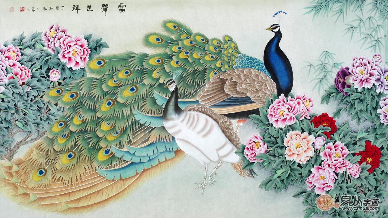 最美丽的鸟孔雀,王一容孔雀图欣赏