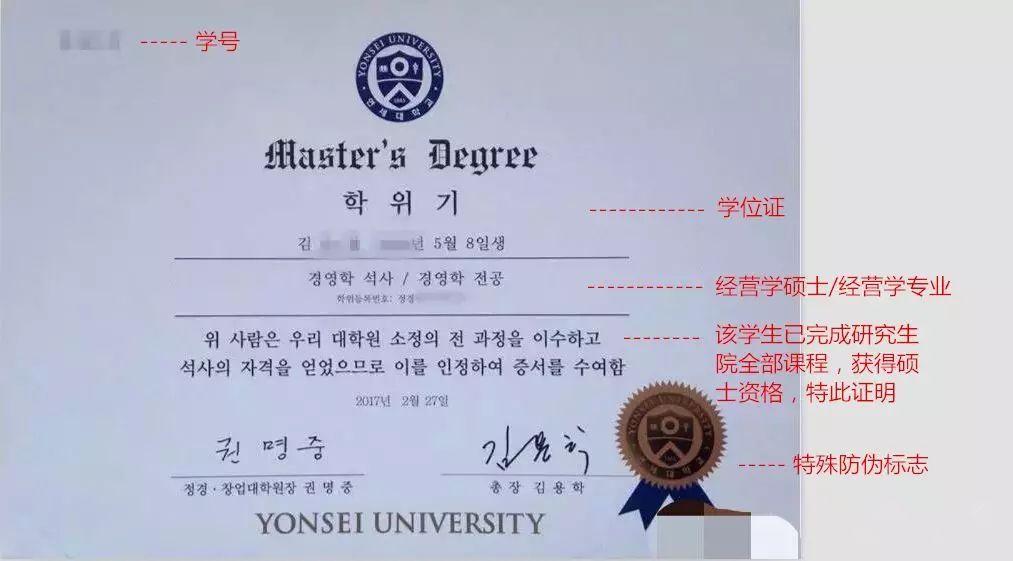 获得时,毕业韩国延世大学硕士学位证书和毕业高中(双证).哪些证书贵阳有特长生图片