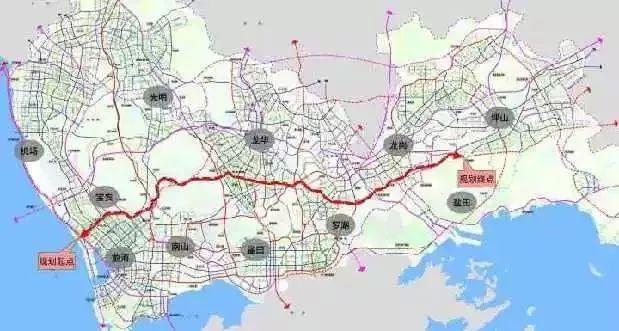 (宝坪大道线路规划图)