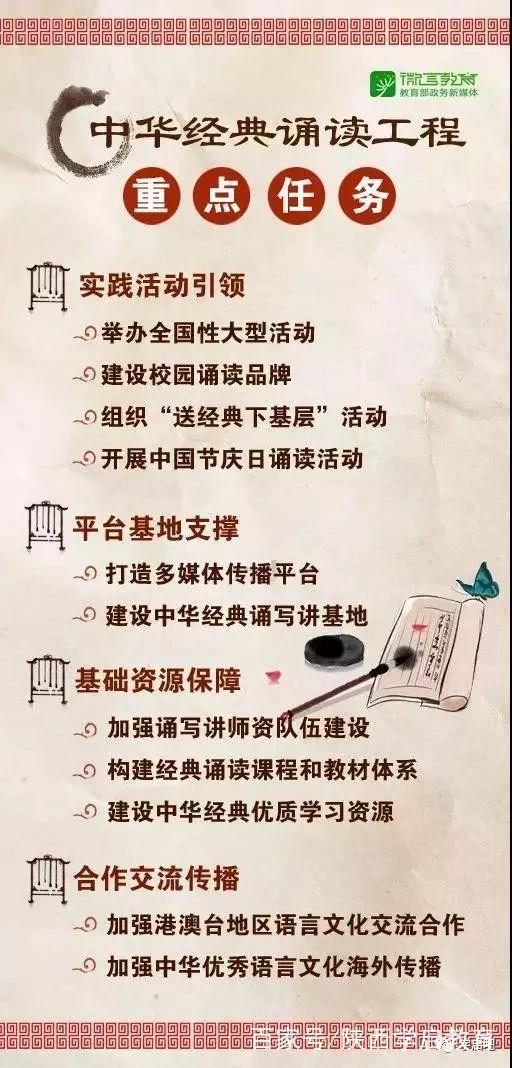 为青少年打下鲜明中国底色,教育部国家语委实施中华经典诵读工程
