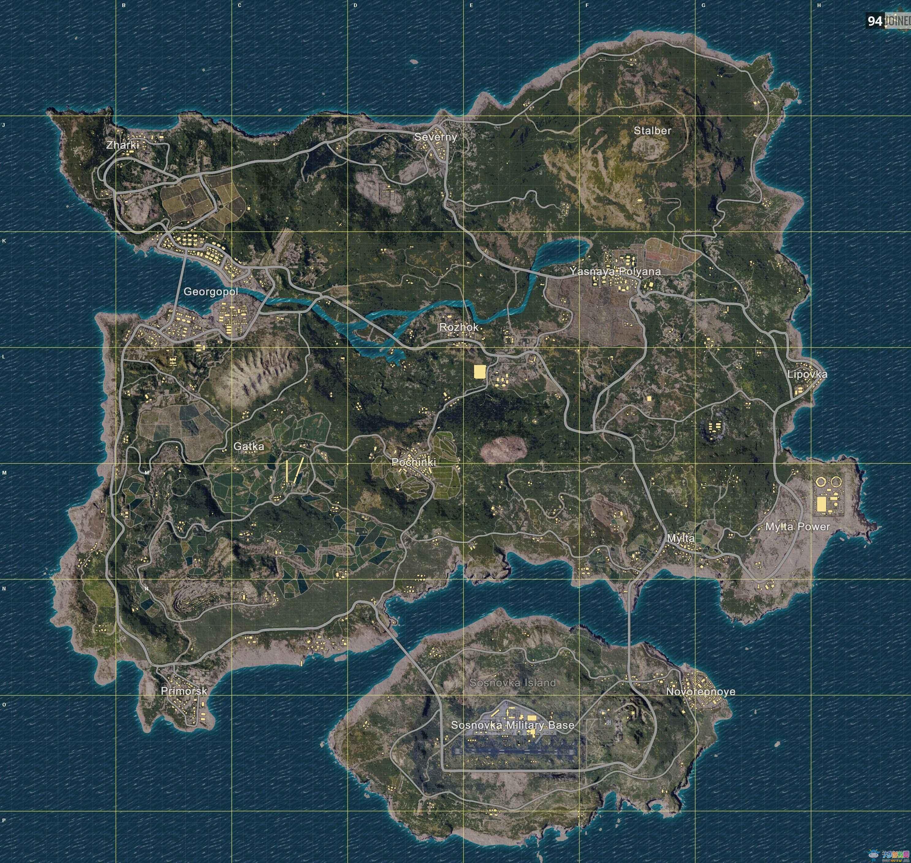 H1Z1大逃杀、Z2地图解析,刷车点,中文地图及坐标详细讲解