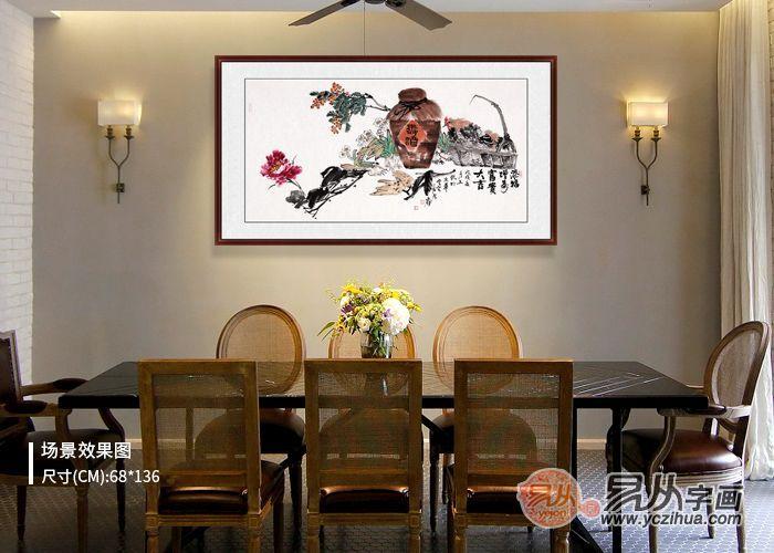 适合餐厅挂的国画,国画花鸟胃口好