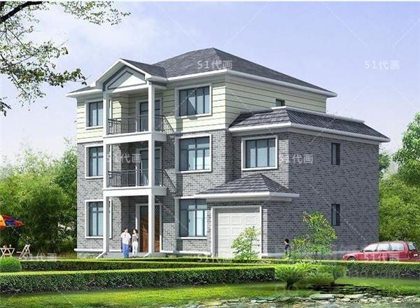 自建房设计图 159.30平米复式3层独栋别墅全套施工图纸