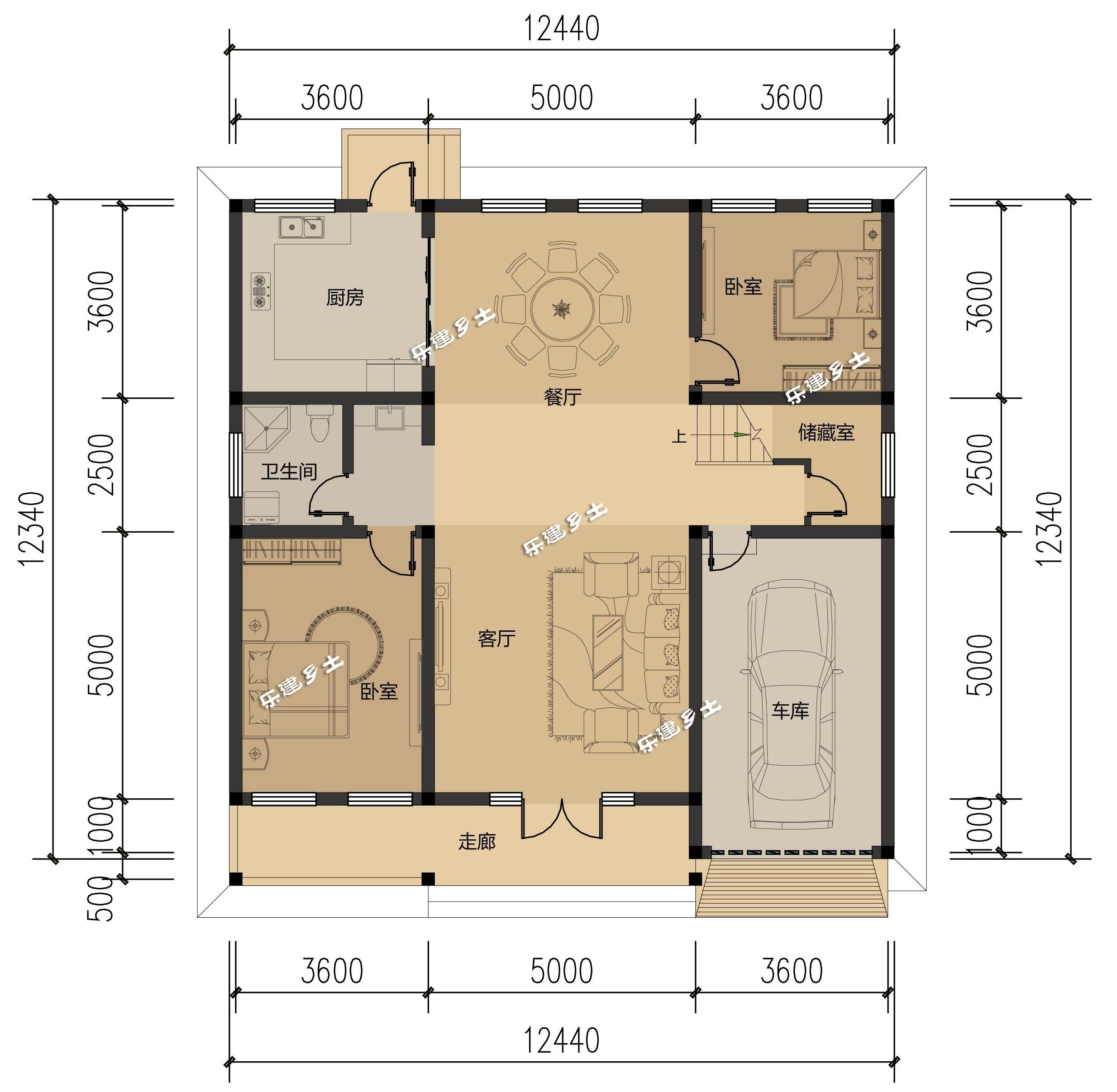 15米乘12米别墅图纸