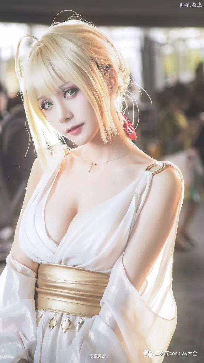 《Fate/EXTELLA》尼禄cos,盛世美颜,高贵优雅的气质仙女!