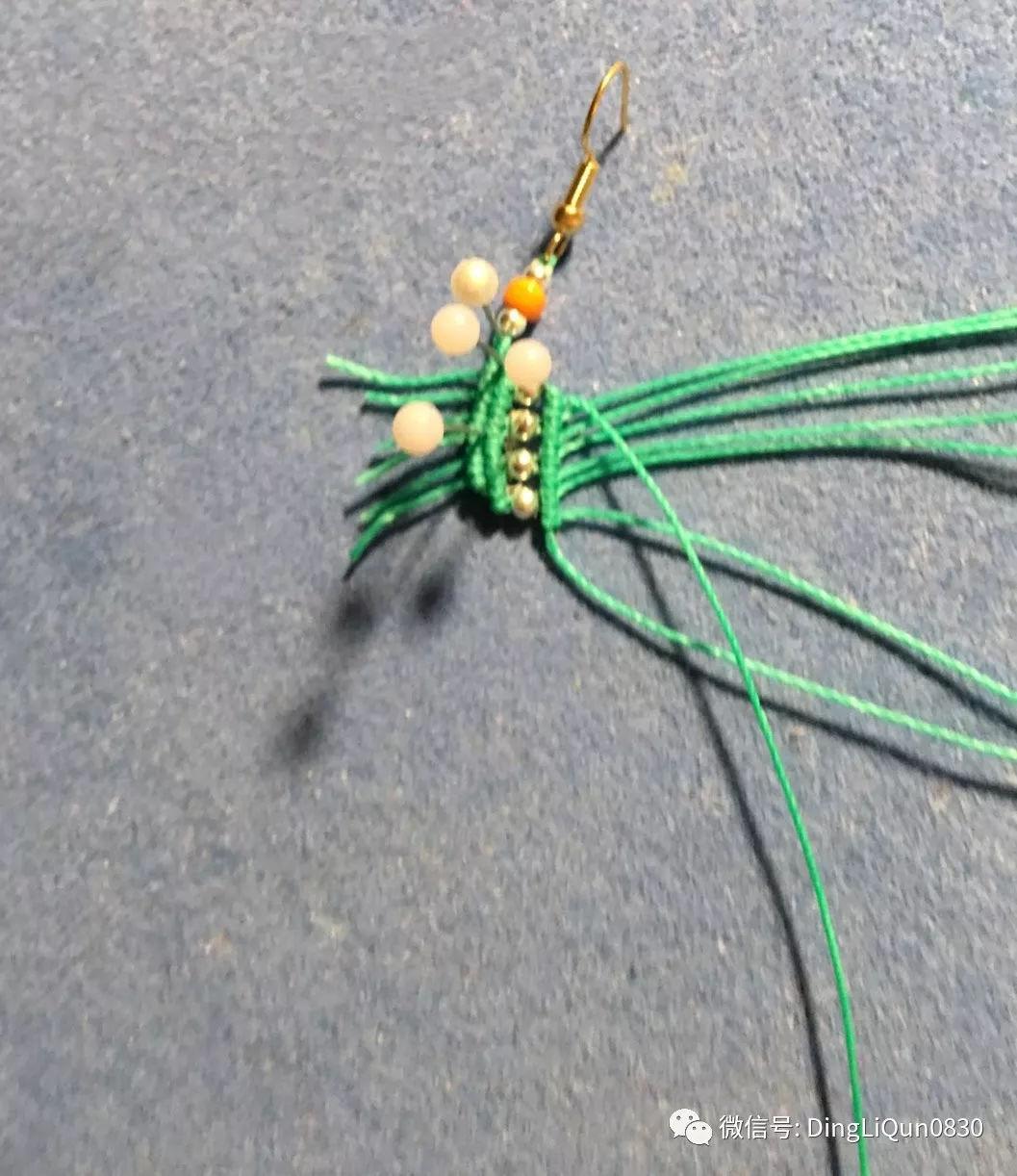 4绳心形手链编法图解&【编绳教程】心形情侣手链,喜儿图片