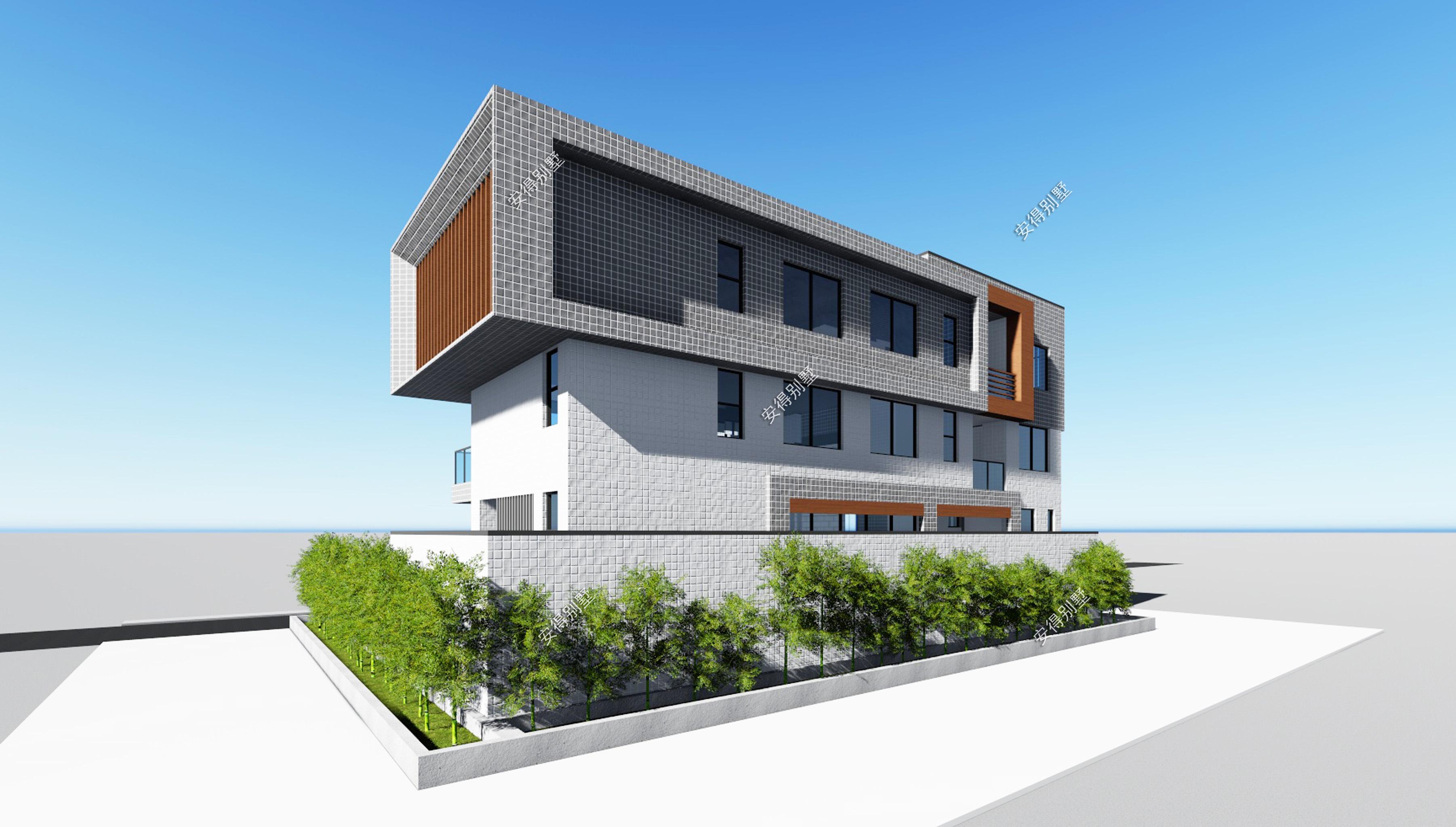 空间感超美的3层现代别墅,车库泳池大阳台设计,再也不图片
