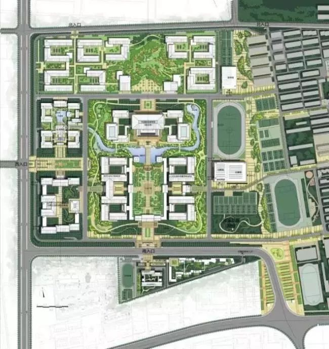 新校区规划总平面图