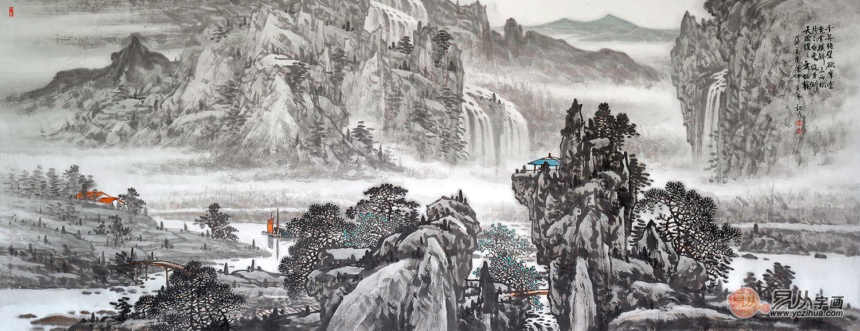 电视台专访画家林德坤山水画作品赏析 | 洋溢着独特的山水意境