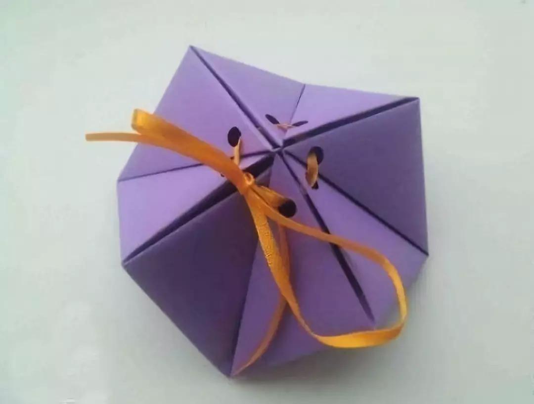 桃谷好英三角形折纸盒子图纸教程[折纸盒图谱] - 纸艺网手机版