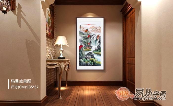 中国人的玄关应该这样装,国画是恰到好处的点缀