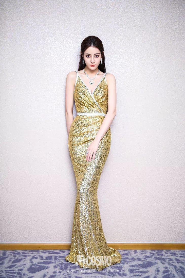 美人计 | 24k金的金鹰女神裙,热巴到底hold没hold住?
