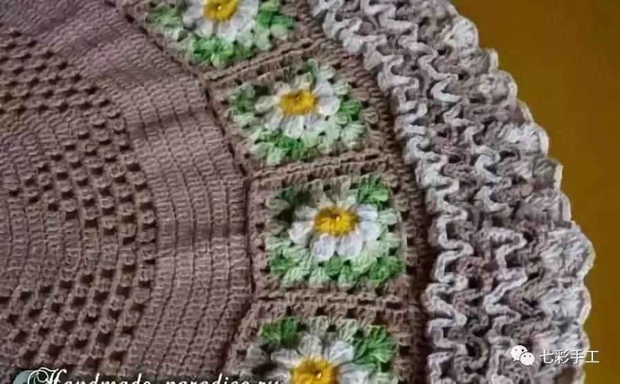 编织| 手工钩织地毯教程图解 钩针地垫大全 让你的家