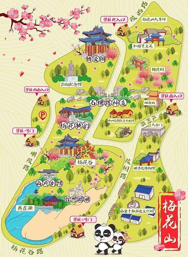 南京夫子庙秦淮风光带手绘地图(图源:百度)