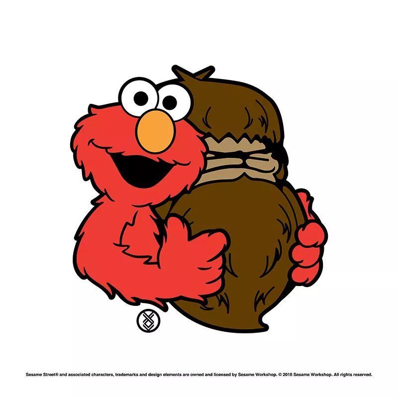 ▼ 芝麻街主人公 elmo 与 fingercroxx 标志性的 bigfoot 形象图片