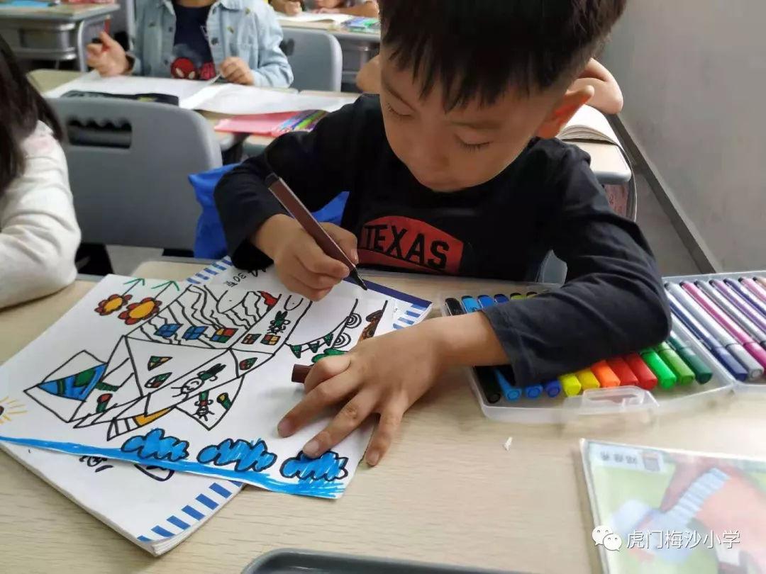 最美绘画展来袭!看看虎门梅沙小学生是画的入学小学申请书图片