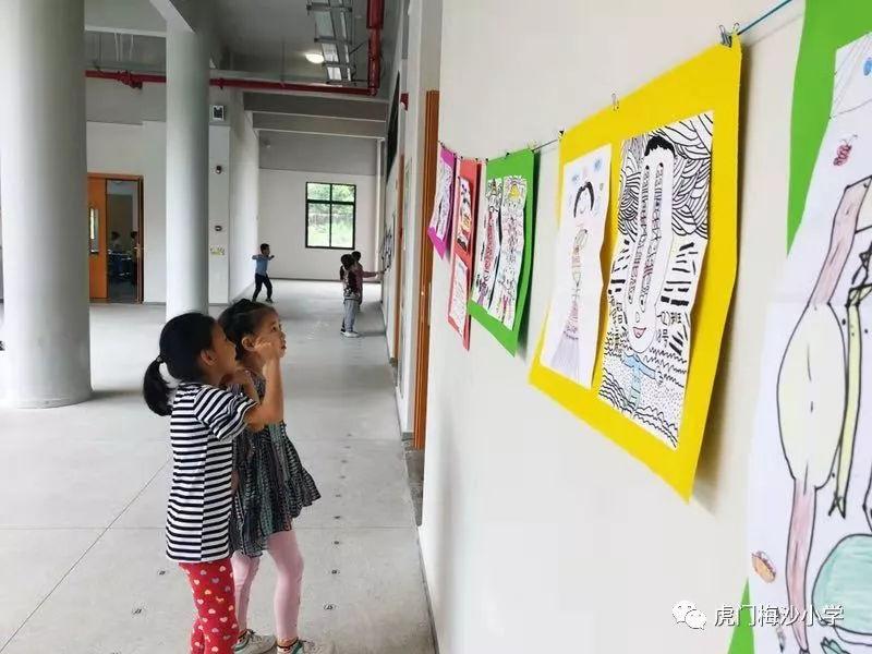 最美绘画展来袭!看看虎门梅沙小学生是画的板报六小学毕业班年级图片