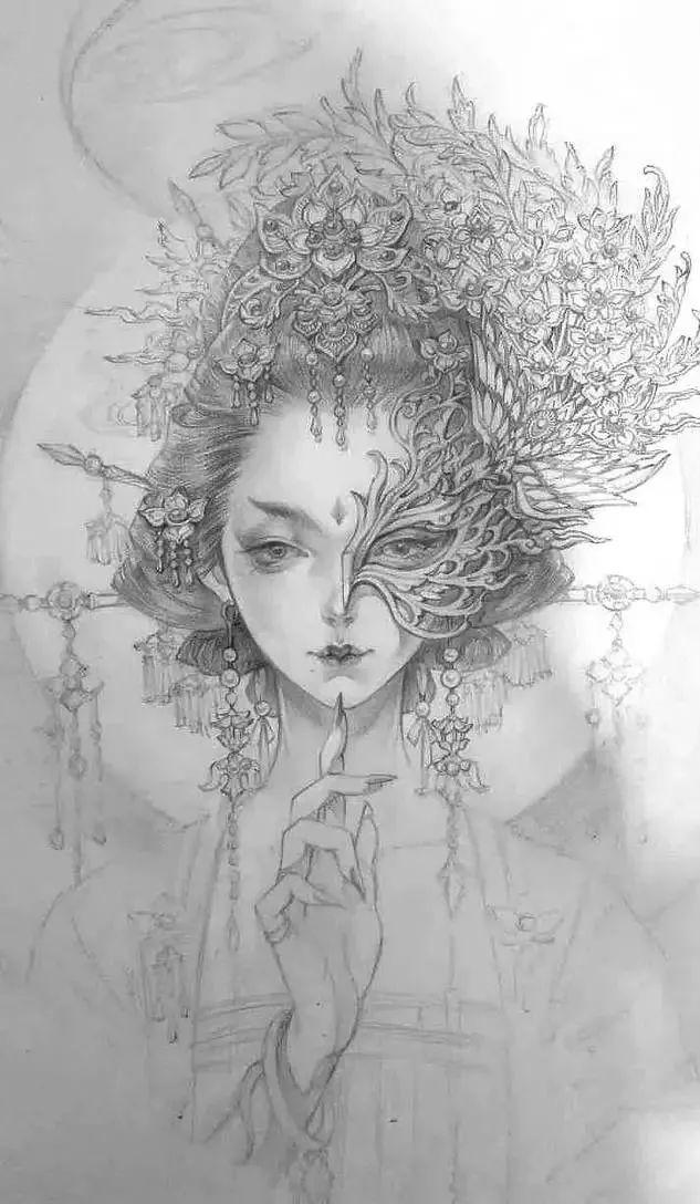 她的画操作一种笔下,古风的步骤美人美到晕厥!高空吊绳带有仙气图片