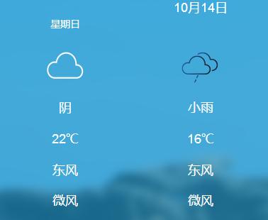 天气早知道(10.14-10.15)