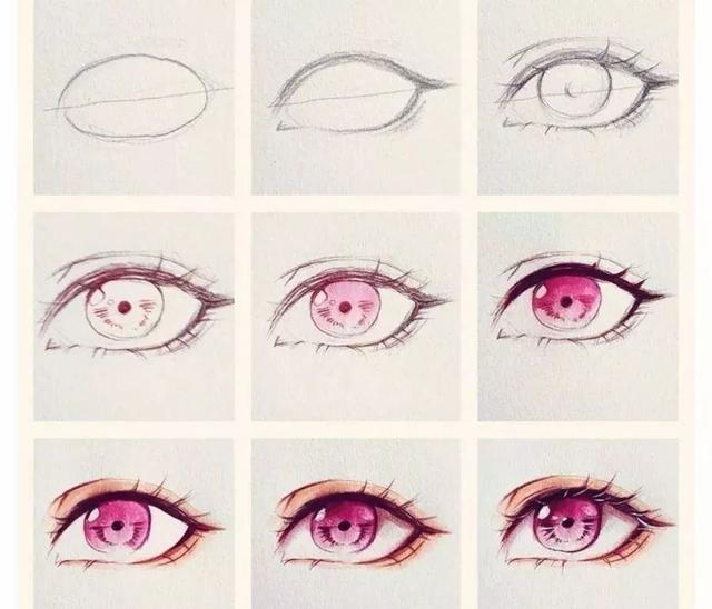 绘画素材 超好看的古风,二次元动漫眼睛,临摹学习干货