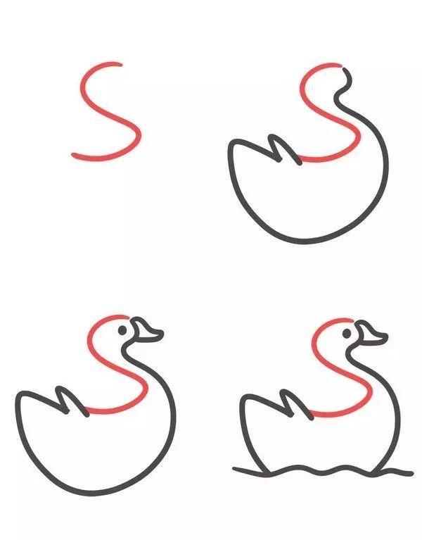 收藏 26个最有创意的字母简笔画来啦图片