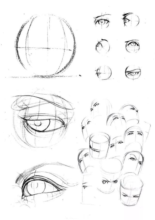 绘画素材 | 超好看的古风,二次元动漫眼睛,临摹学习干货