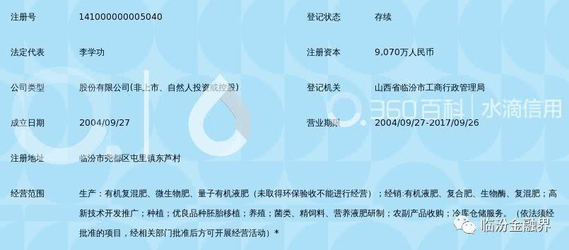 咱临汾首家登陆新三板的企业停牌 法人李学功被法院纳入失信被执行人