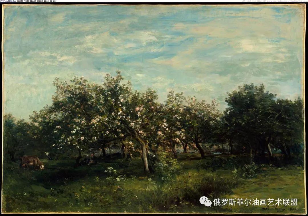 巴比松画派夏尔·弗朗索瓦·多比尼风景油画作品欣赏