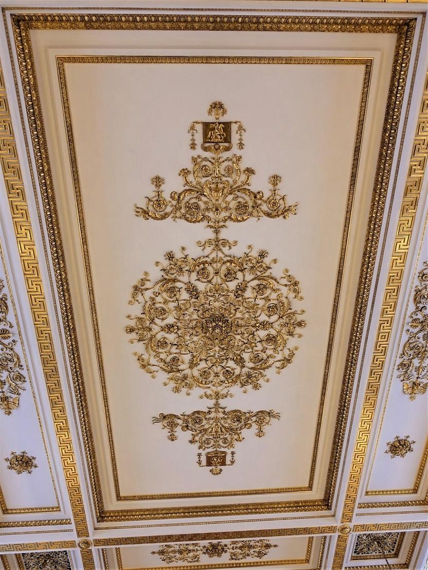 图14,古罗马公共浴室地板 也许是冬宫中唯一的一件复制品