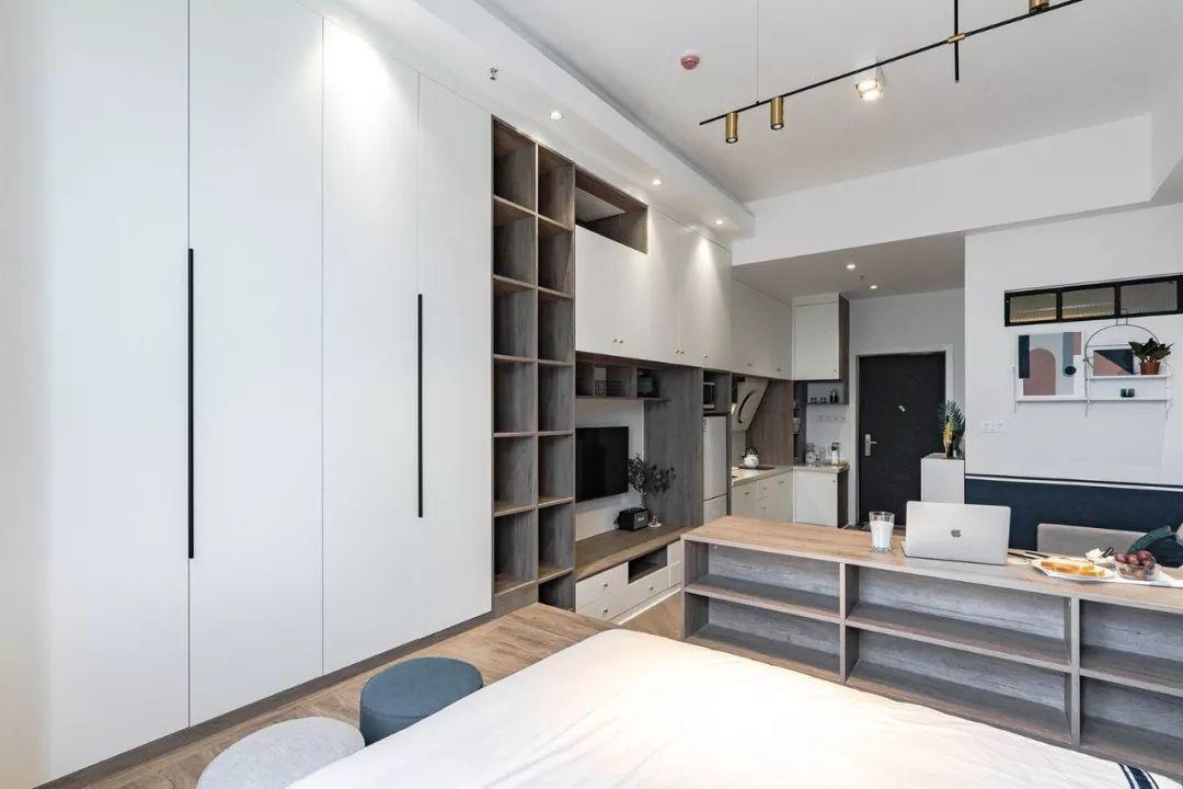 35㎡简约北欧风单身公寓,美观大气,卧室秒变休闲区